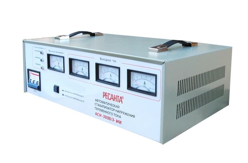 Электромеханический стабилизатор напряжения Ресанта АСН-3000/3-ЭМ