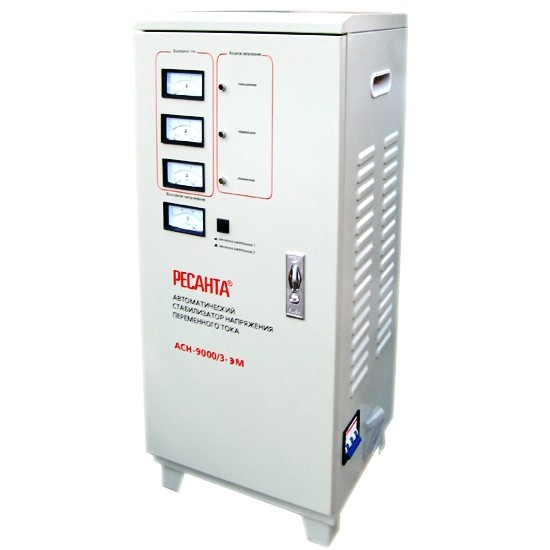 Электромеханический стабилизатор напряжения Ресанта АСН-9000/3-ЭМ