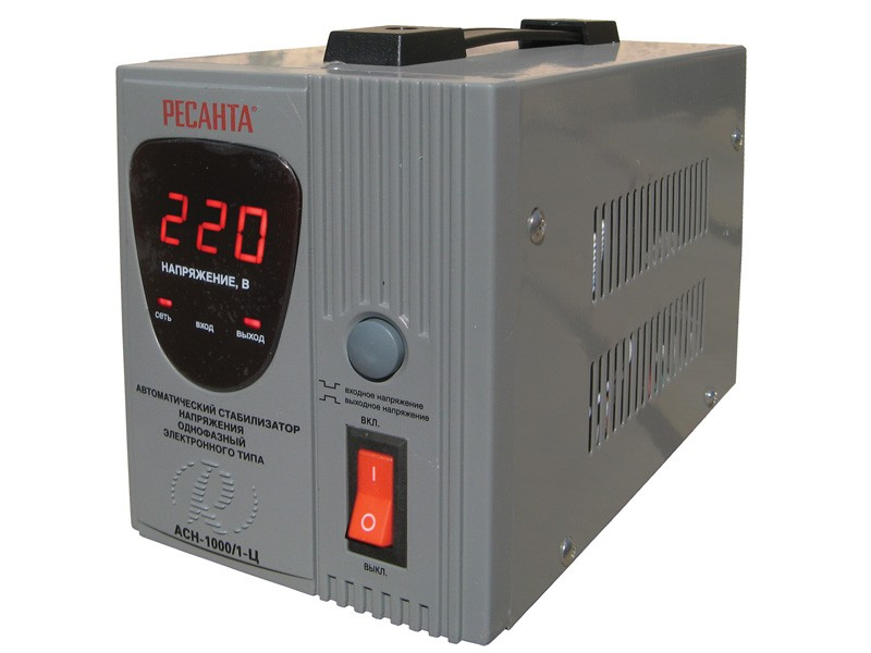 Цифровой стабилизатор напряжения Ресанта АСН-1000/1-Ц