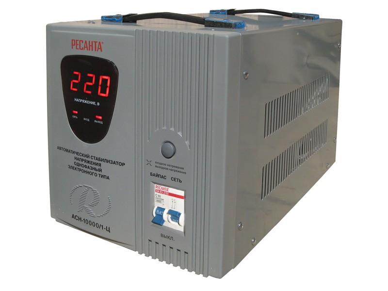 Цифровой стабилизатор напряжения Ресанта АСН-10000/1-Ц