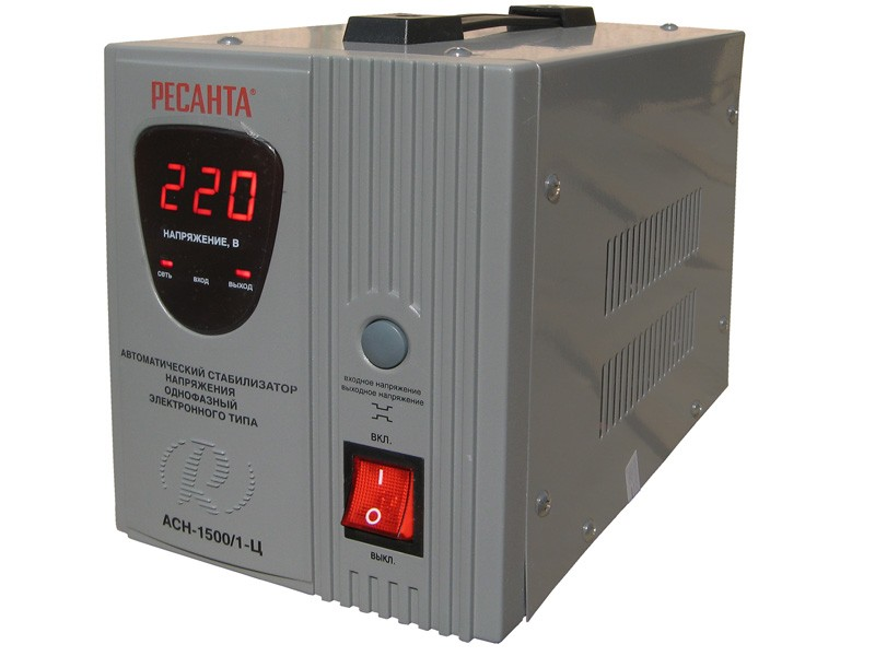 Цифровой стабилизатор напряжения Ресанта АСН-1500/1-Ц