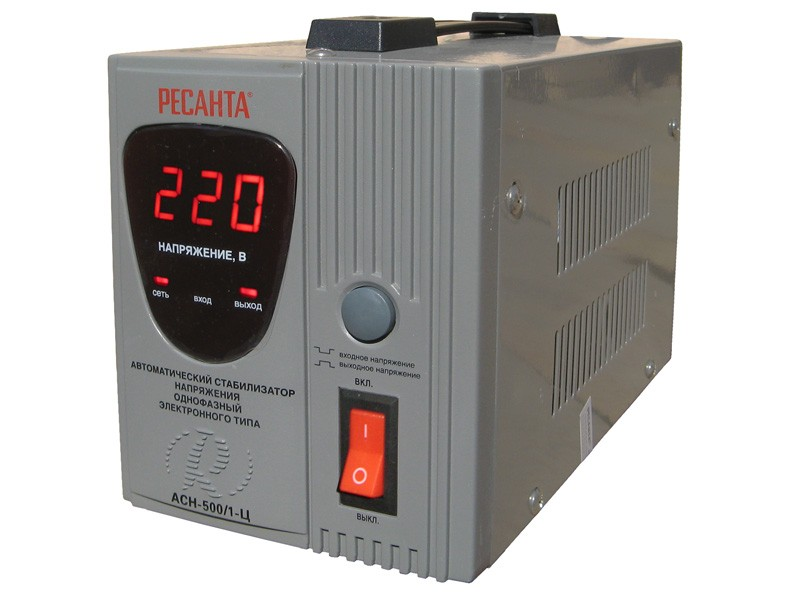 Цифровой стабилизатор напряжения Ресанта АСН-500/1-Ц
