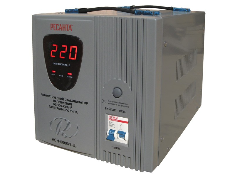 Цифровой стабилизатор напряжения Ресанта АСН-5000/1-Ц