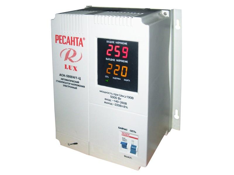 Цифровой стабилизатор напряжения Ресанта ACH-5000Н/1-Ц