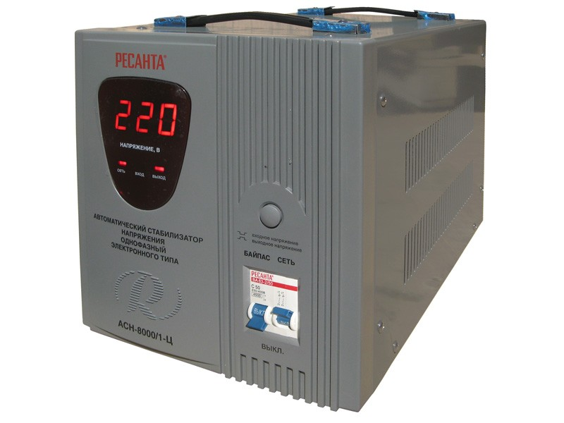 Цифровой стабилизатор напряжения Ресанта АСН-8000/1-Ц