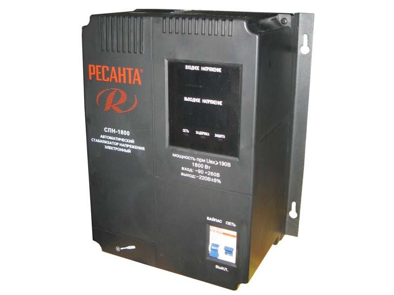Цифровой стабилизатор напряжения Ресанта СПН-1800