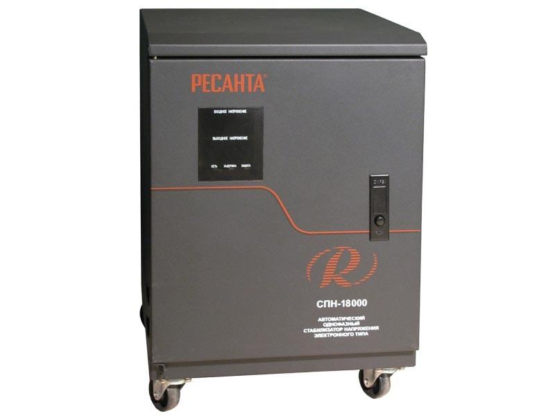 Цифровой стабилизатор напряжения Ресанта СПН-18000
