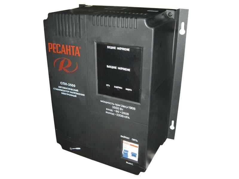 Цифровой стабилизатор напряжения Ресанта СПН-3500
