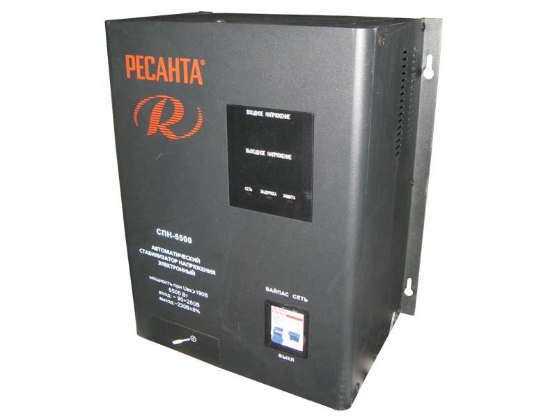 Цифровой стабилизатор напряжения Ресанта СПН-5500