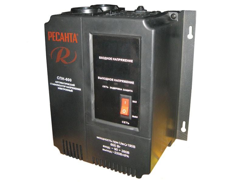 Цифровой стабилизатор напряжения Ресанта СПН-600