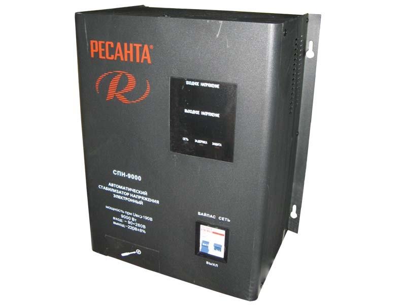 Цифровой стабилизатор напряжения Ресанта СПН-9000